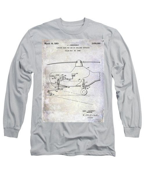 1953 Helicopter Patent Long Sleeve T-Shirt