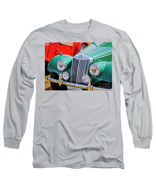 Long Sleeve T-Shirt featuring the photograph 1954 Mg Tf Sports Car by Chris Dutton