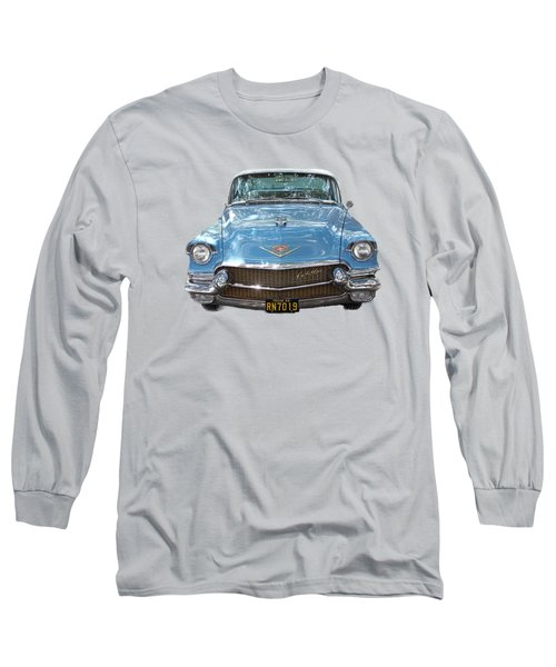 1956 Cadillac Cutout Long Sleeve T-Shirt by Linda Phelps