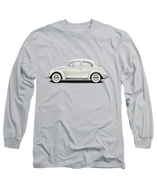 1961 Volkswagen Deluxe Sedan - Pearl White Long Sleeve T-Shirt by Ed Jackson