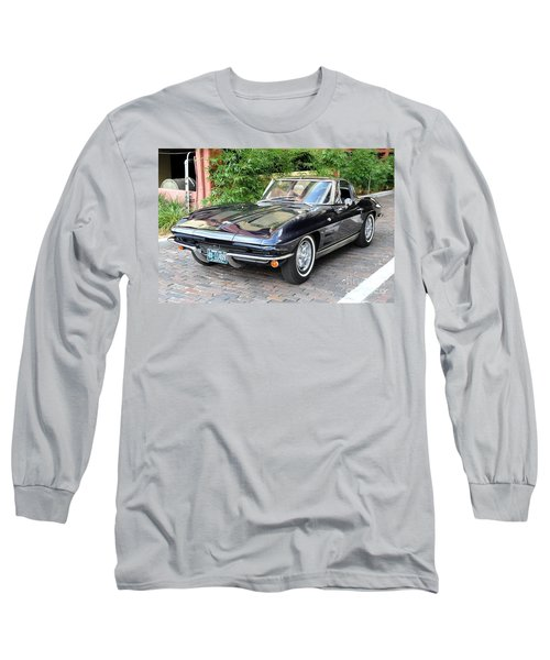 Long Sleeve T-Shirt featuring the photograph 1963 Corvette Split Window Coupe by John Black