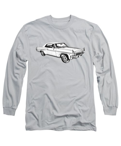 1965 Chevy Impala 327 Convertible Illuistration Long Sleeve T-Shirt by Keith Webber Jr