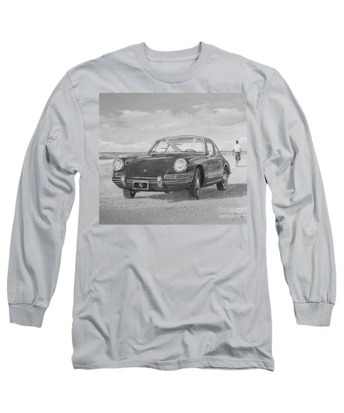 1967 Porsche 912 In Black And White Long Sleeve T-Shirt