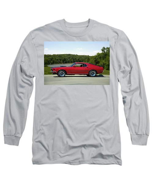 Long Sleeve T-Shirt featuring the photograph 1969 Mustang Mach 1 by Tim McCullough
