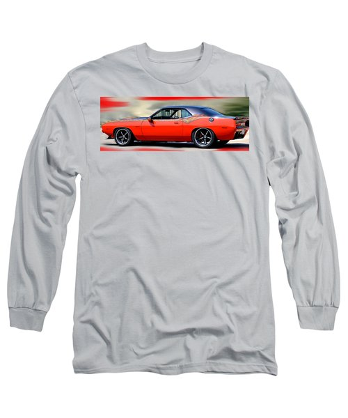 1970 Dodge Challenger Srt Long Sleeve T-Shirt by Maria Urso