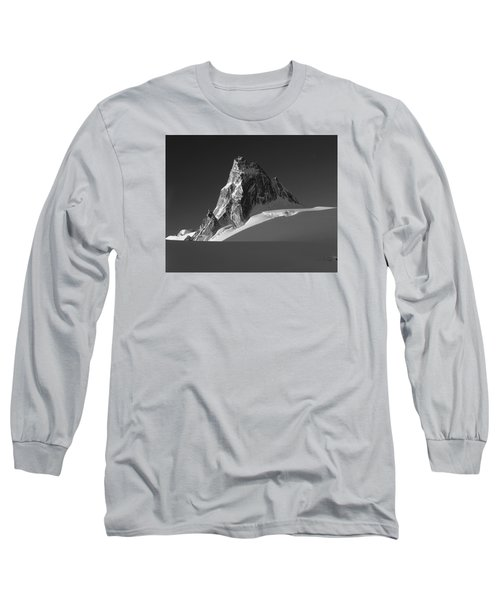 1m2716-bw Sunrise On Pigeon Spire Long Sleeve T-Shirt