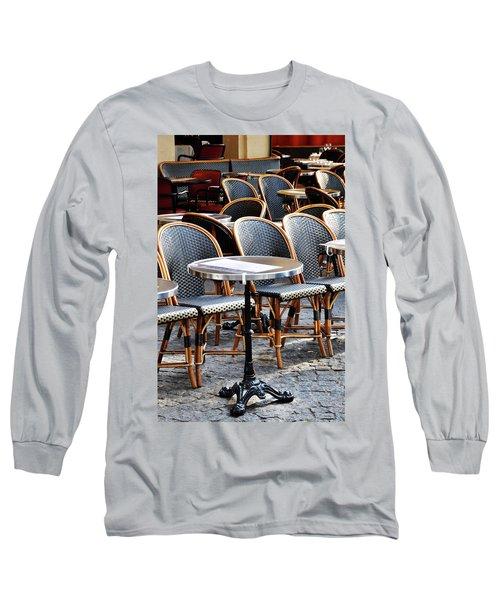 Cafe Terrace In Paris Long Sleeve T-Shirt