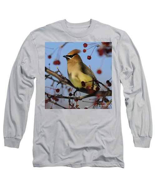 Cedar Waxwing... Long Sleeve T-Shirt