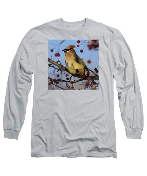 Cedar Waxwing... Long Sleeve T-Shirt