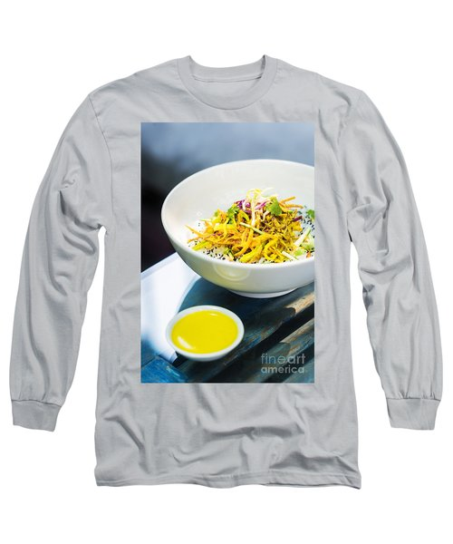 Curry Sauce Vegetable Salad With Noodles And Sesame Long Sleeve T-Shirt