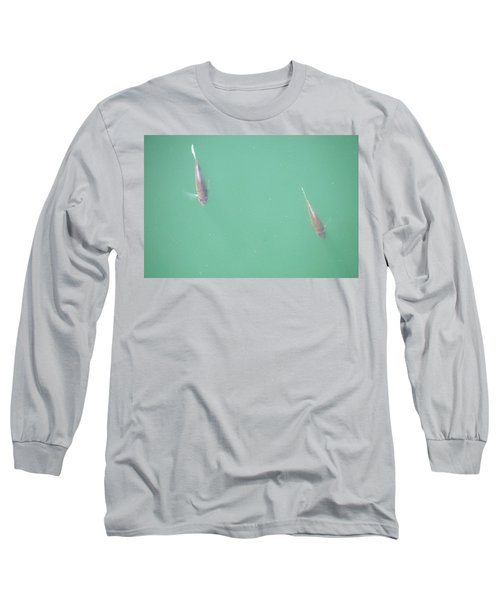 Long Sleeve T-Shirt featuring the photograph 2 Fish In A Pond by Paul SEQUENCE Ferguson             sequence dot net