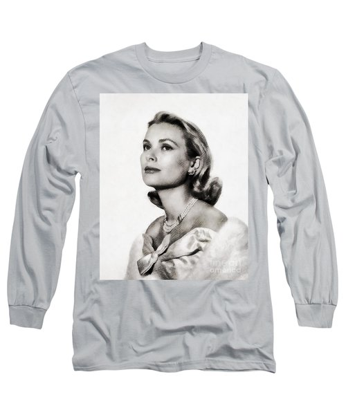 Grace Kelly, Vintage Hollywood Actress Long Sleeve T-Shirt