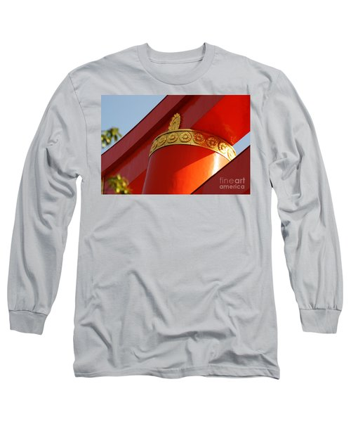 Long Sleeve T-Shirt featuring the photograph Heian Torii by Cassandra Buckley