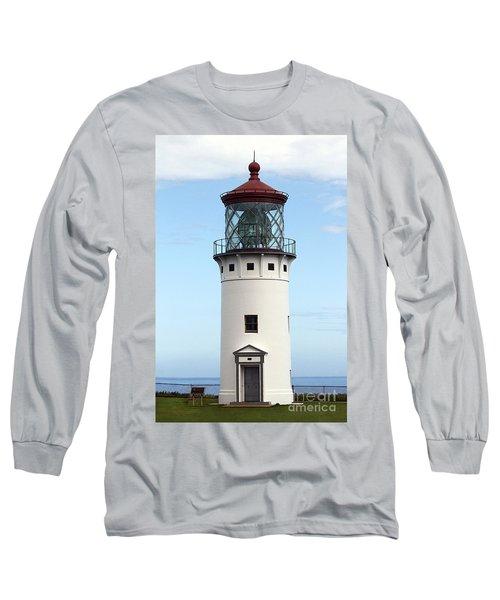 Kilauea Lighthouse On Kauai Long Sleeve T-Shirt by Catherine Sherman