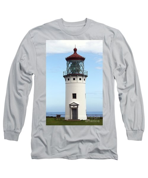 Kilauea Lighthouse On Kauai Long Sleeve T-Shirt
