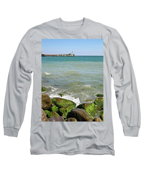Lighthouse In Sea Long Sleeve T-Shirt