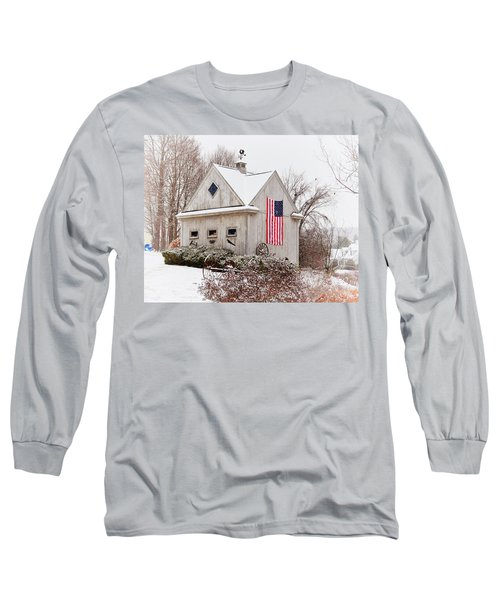 Patriotic Barn Long Sleeve T-Shirt by Tricia Marchlik