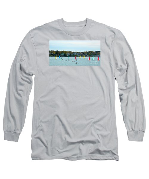 Long Sleeve T-Shirt featuring the photograph Sailing by Raymond Earley