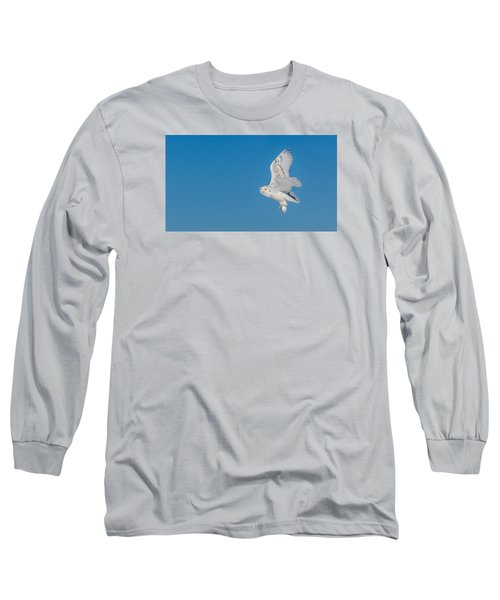 Long Sleeve T-Shirt featuring the photograph Snowy Owl by Dan Traun