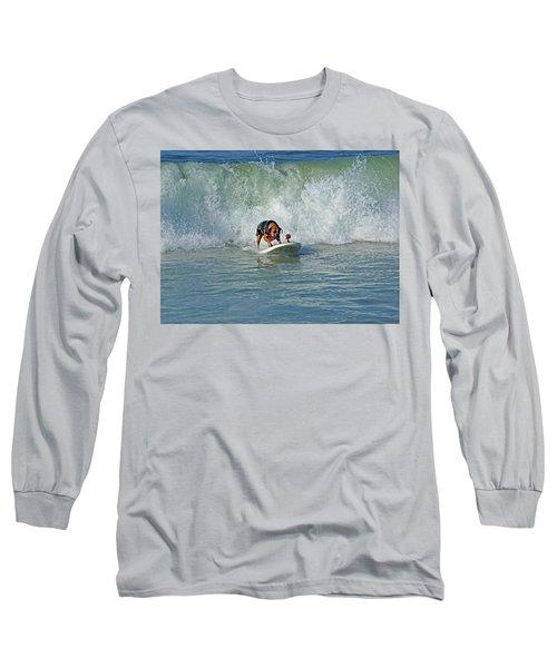 Surfing Dog Long Sleeve T-Shirt