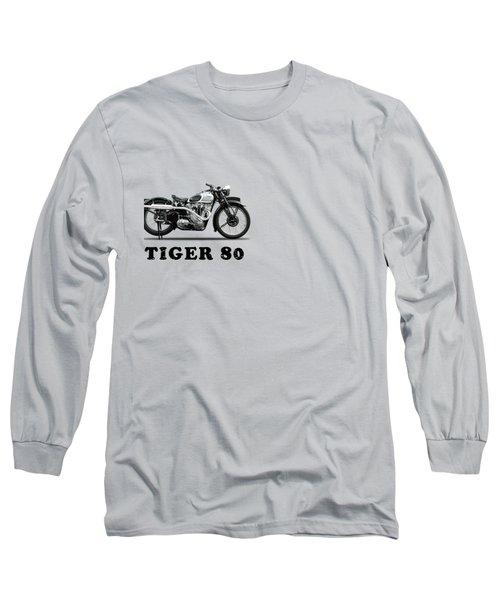 Triumph Tiger 80 1937 Long Sleeve T-Shirt by Mark Rogan