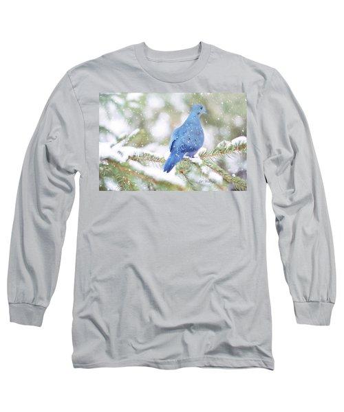 Winter Birds Long Sleeve T-Shirt by Jill Wellington