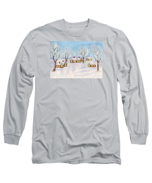 Winter Landscape, Painting Long Sleeve T-Shirt