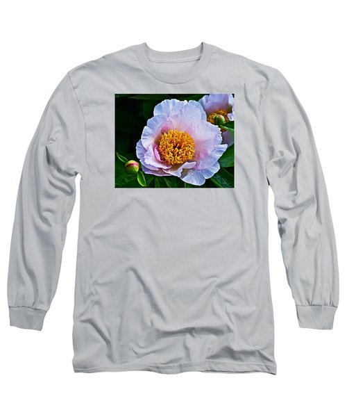 2015 Spring At The Garden White Peony  Long Sleeve T-Shirt