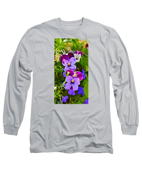 2015 Summer's Eve At The Garden Pansy Totem Long Sleeve T-Shirt