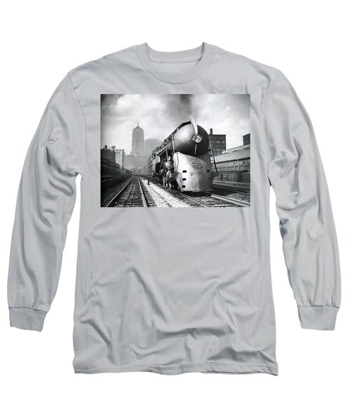 20th Century Limited Streamlined Train  1939 Long Sleeve T-Shirt