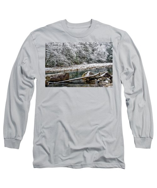Long Sleeve T-Shirt featuring the photograph Winter Along Cranberry River by Thomas R Fletcher