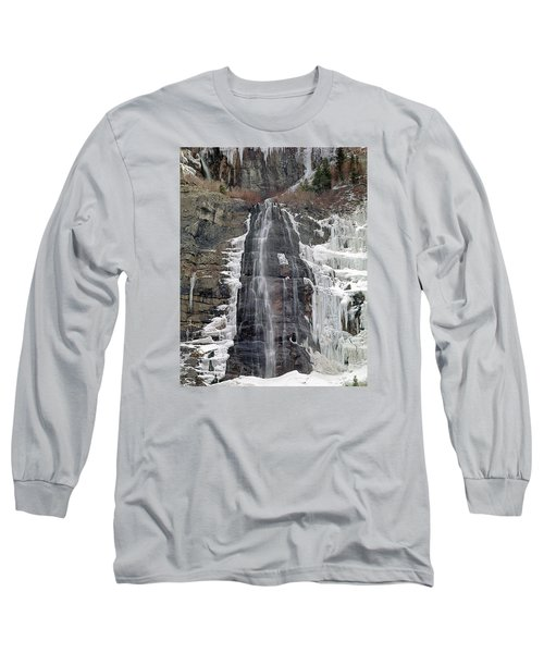 212m40 Bridal Veil Falls Utah Long Sleeve T-Shirt