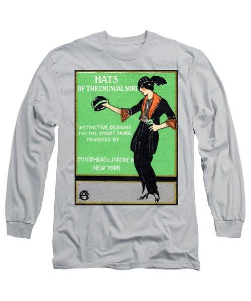 1920 Hats Of The Unusual Sort Long Sleeve T-Shirt