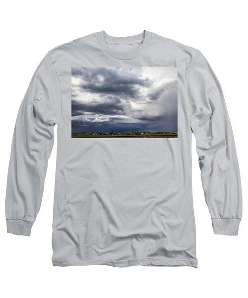 Afternoon Nebraska Thunderstorm Long Sleeve T-Shirt