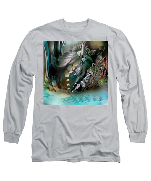 Long Sleeve T-Shirt featuring the pastel Art Abstract by Sheila Mcdonald