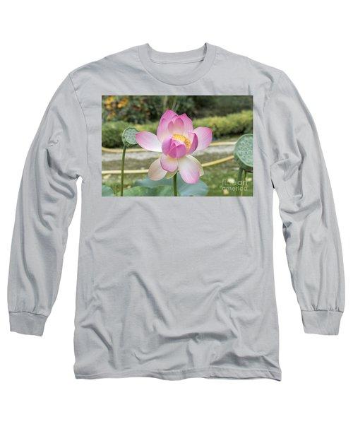 Beautiful Indian Lotus Long Sleeve T-Shirt
