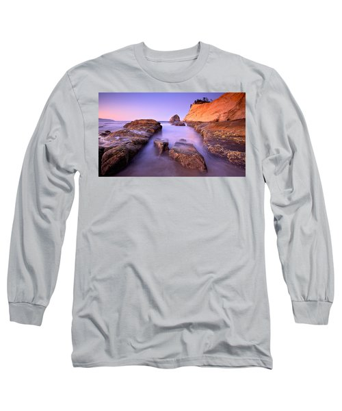 Long Sleeve T-Shirt featuring the photograph Cape Kiwanda by Evgeny Vasenev