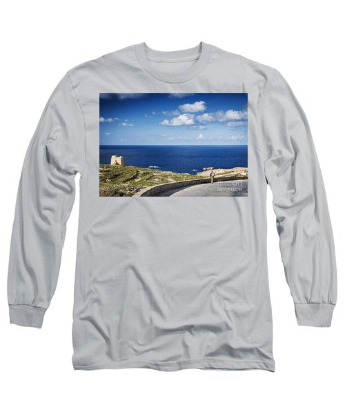 Fort And Coast View Of Gozo Island In Malta Long Sleeve T-Shirt