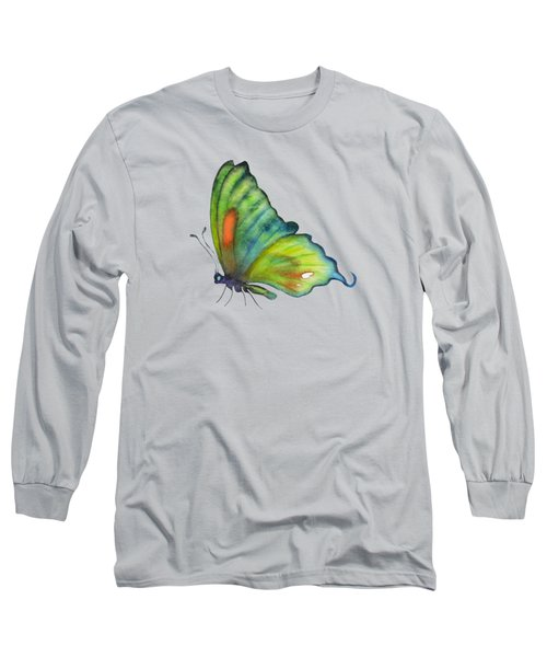 3 Perched Orange Spot Butterfly Long Sleeve T-Shirt by Amy Kirkpatrick