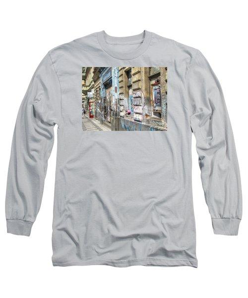 Praha Street Long Sleeve T-Shirt by Yury Bashkin