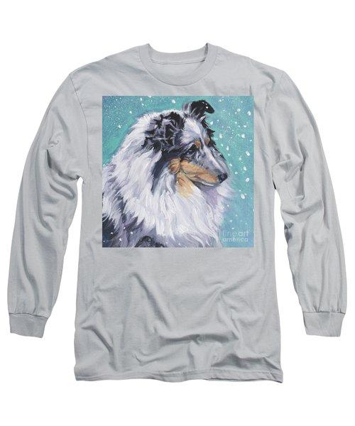 Long Sleeve T-Shirt featuring the painting Shetland Sheepdog by Lee Ann Shepard
