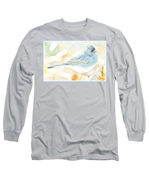 Slate-colored Junco, Snowbird, Male, Animal Portrait Long Sleeve T-Shirt