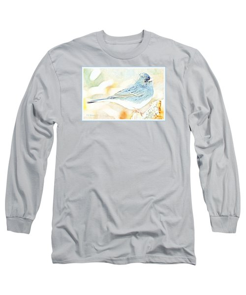 Slate-colored Junco, Snowbird, Male, Animal Portrait Long Sleeve T-Shirt