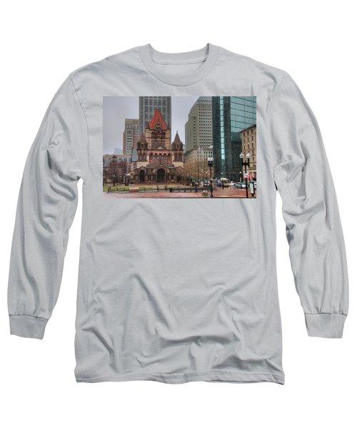 Long Sleeve T-Shirt featuring the photograph Trinity Church - Copley Square - Boston by Joann Vitali
