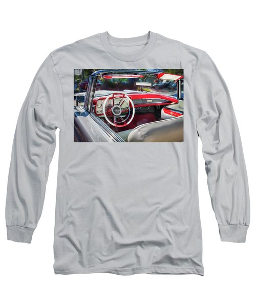 1959 Lincoln Continental Town Car Mk Iv Painted  Long Sleeve T-Shirt