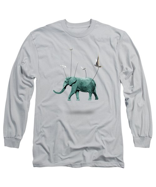 Elephant Long Sleeve T-Shirt by Mark Ashkenazi