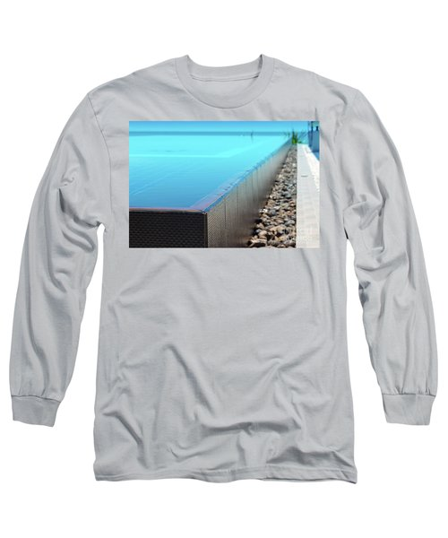 Long Sleeve T-Shirt featuring the photograph Infinity Pool by Atiketta Sangasaeng
