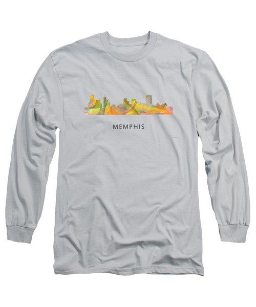 Memphis Tennessee Skyline Long Sleeve T-Shirt