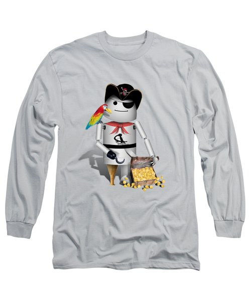 Robo-x9 The Pirate Long Sleeve T-Shirt by Gravityx9  Designs