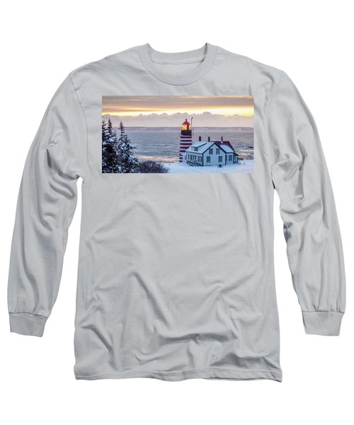 West Quoddy Lighthouse Long Sleeve T-Shirt by Trace Kittrell